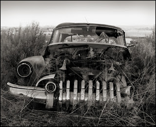 1950 Buick Super - Black and White Film Photography