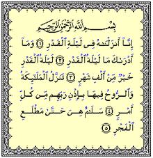 Ayat-ayat Al-Qadr