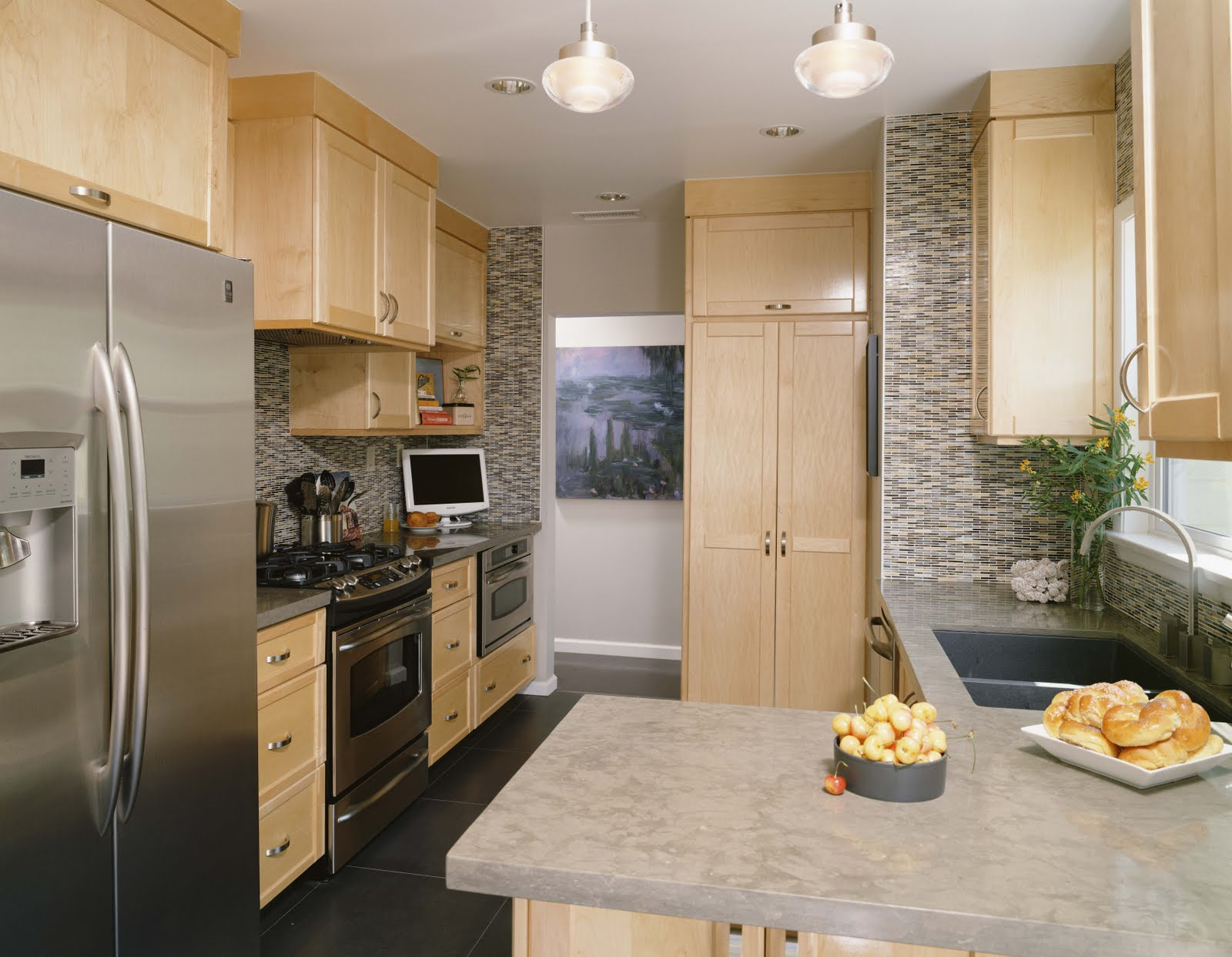 Eco Chic Green Interior Design + Healthy Living Small Kitchen Design