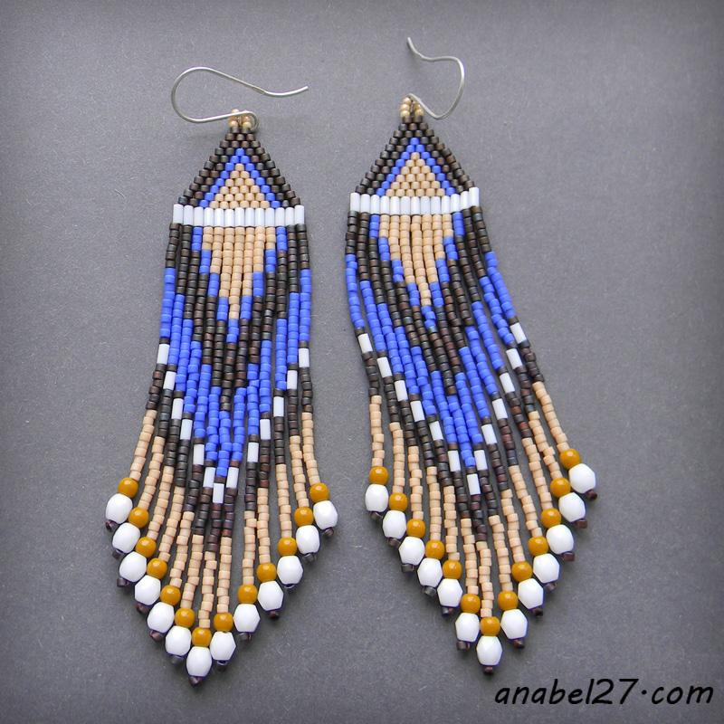 украшения в этническом стиле купить seed bead earrings