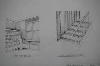 Sketsa Rumah Minimalis interior