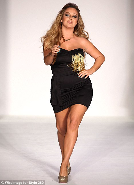 girls Danity Kane Singer Aubrey ODay Models at New York Fashion Week