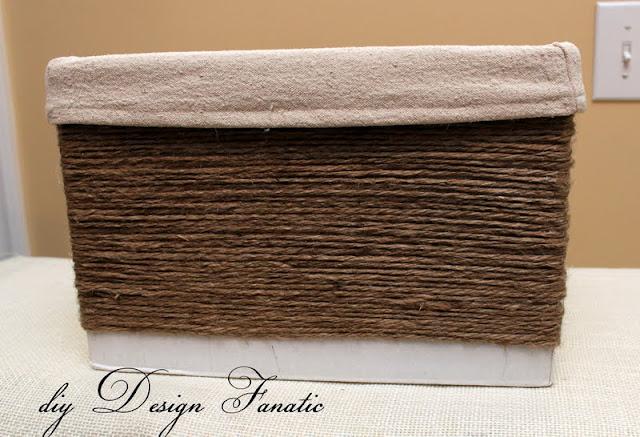 Make a basket from a wine box, diy, diy Design Fanatic, craft