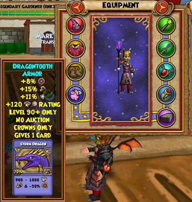 Wizard101 Halloween 2013 - Dragonbone Gear Nightmare Pack