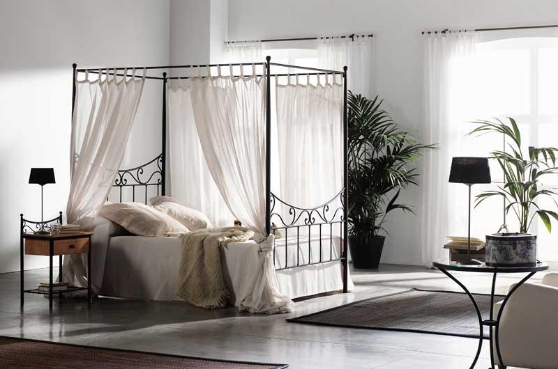 Muebles de forja camas altas con dosel en forja - Cama con dosel ...
