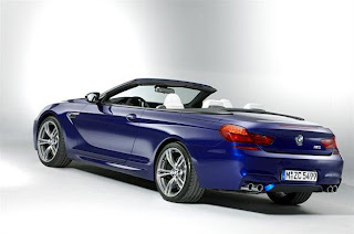 NEW BMW M6 BLUE REAR VIEW