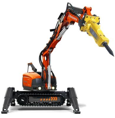 Роботехника HUSQVARNA - новинки роботы для сноса и демонтажа