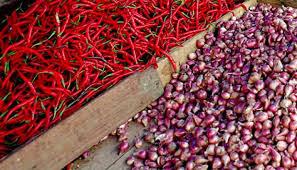 Harga cabe dan Bawang merah meroket