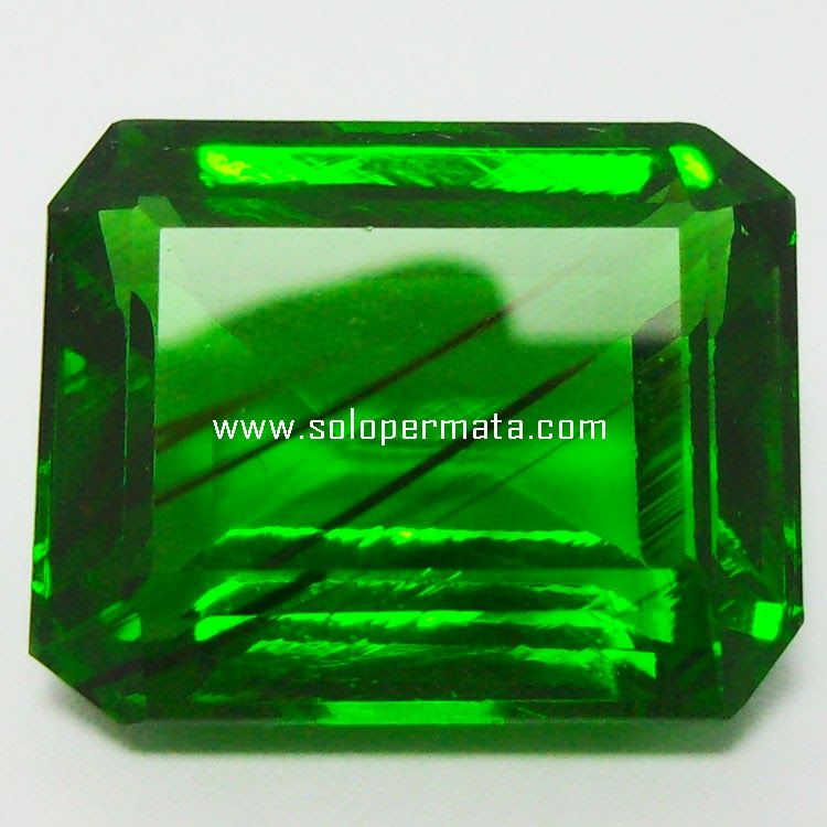 Batu Permata Green Tektite - 29A09