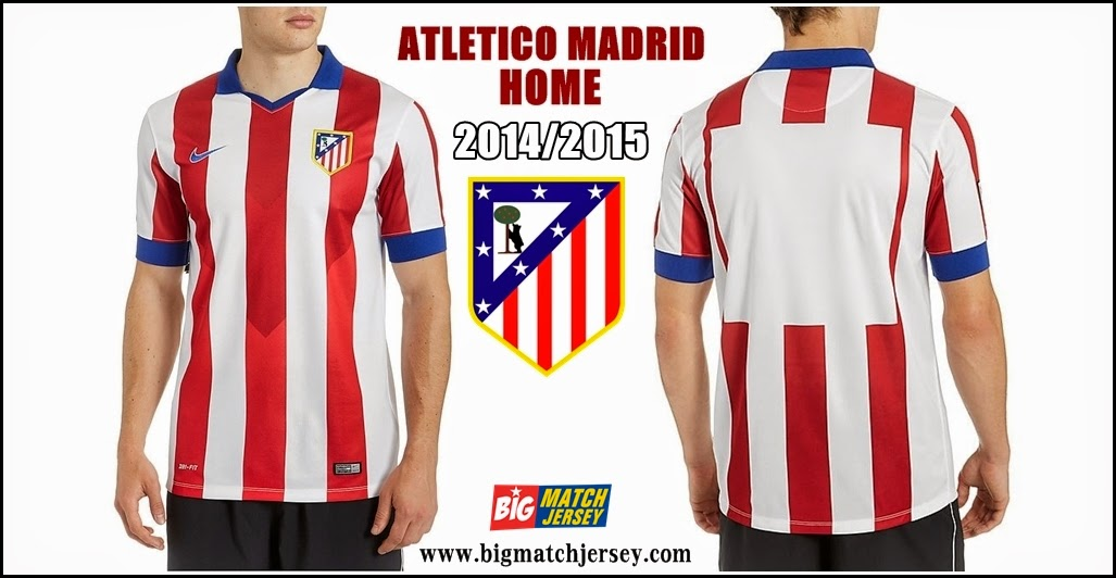 Jersey Club Terbaru Atletico Madrid Home Official 2014-2015