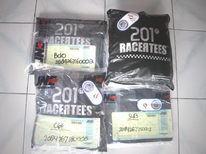 packing pengiriman kaos RACERTEES 201,
