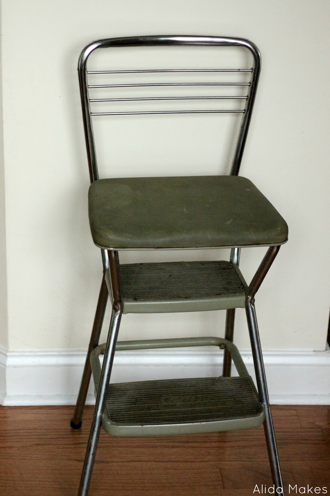 Kitchen Step Stool Chair Vintage