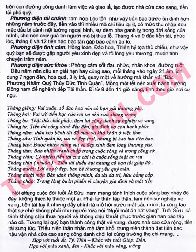 TỬ VI TUỔI ẤT SỬU 1985 NĂM 2014 GIÁP NGỌ - Blog Trần ...