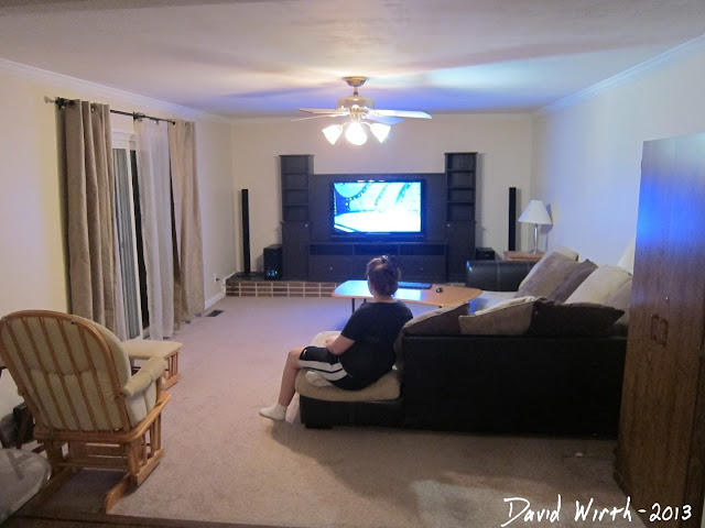 finished family room remodel