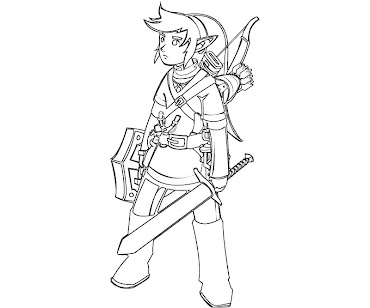 #8 Link Coloring Page