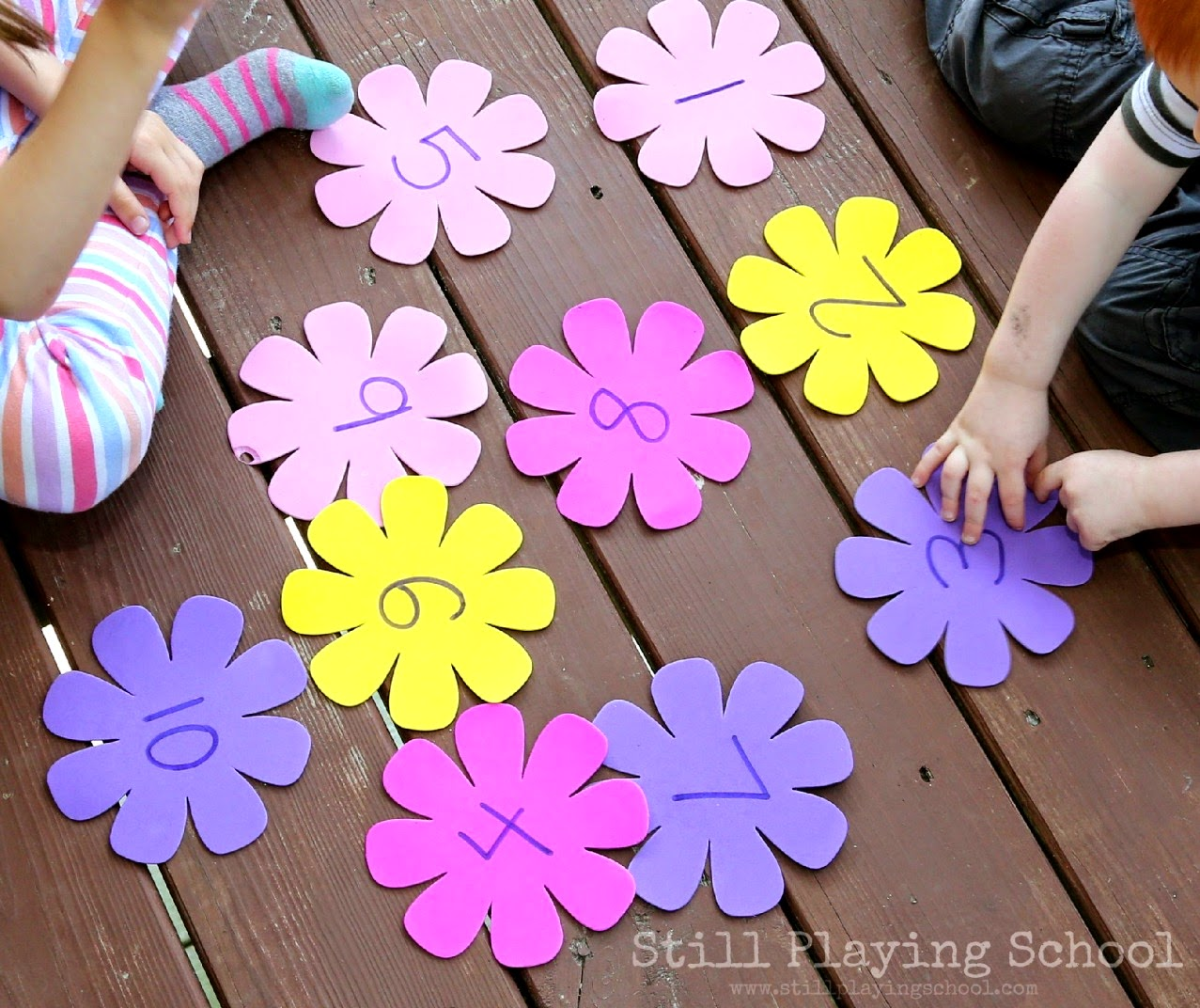 Preschool Number Flower Garden Still Playing School