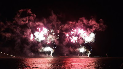 Watching Fireworks at Penghu Island, Taiwan