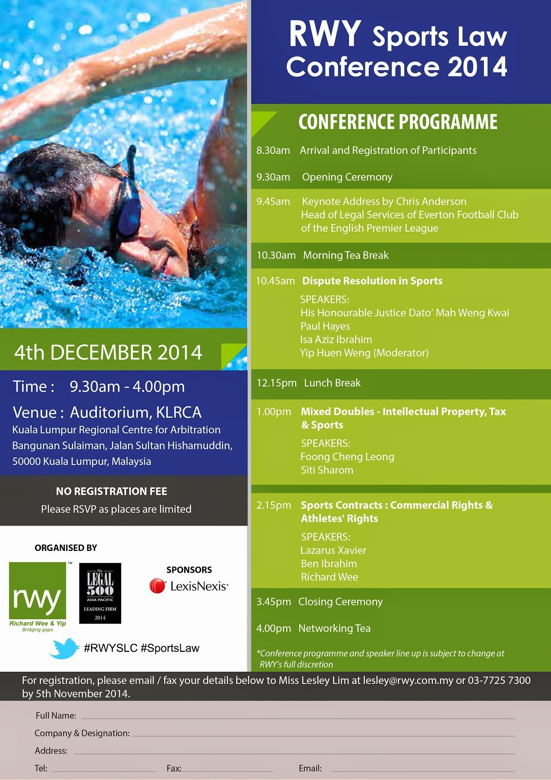 RWY Sports Law Conference 2014