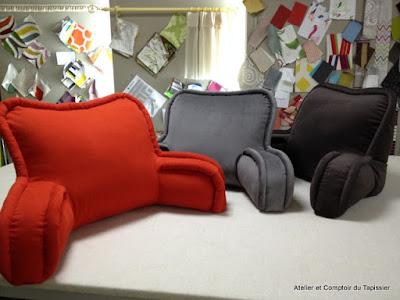 atelier et comptoir du tapissier coussins lecture au lit. Black Bedroom Furniture Sets. Home Design Ideas