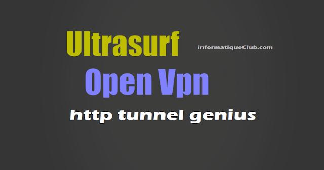 طريقة دمج برنامج HTG و OPENVPN و ULTRASURF لتشغيل أنترنت إتصلات المغرب على الحاسوب مجانا