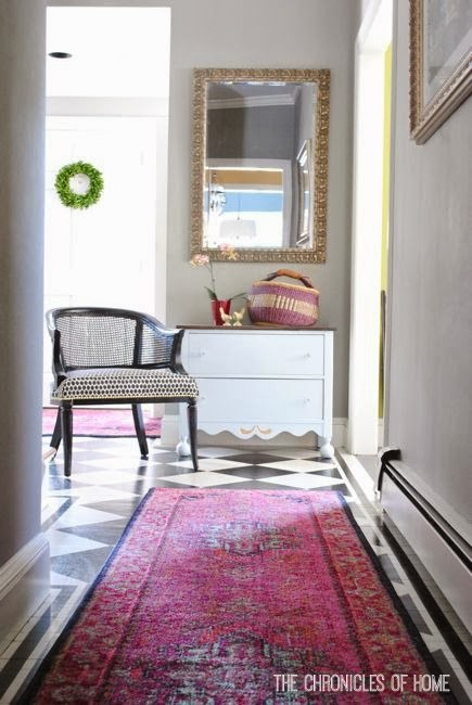 Bold Pink Entryway Rugs
