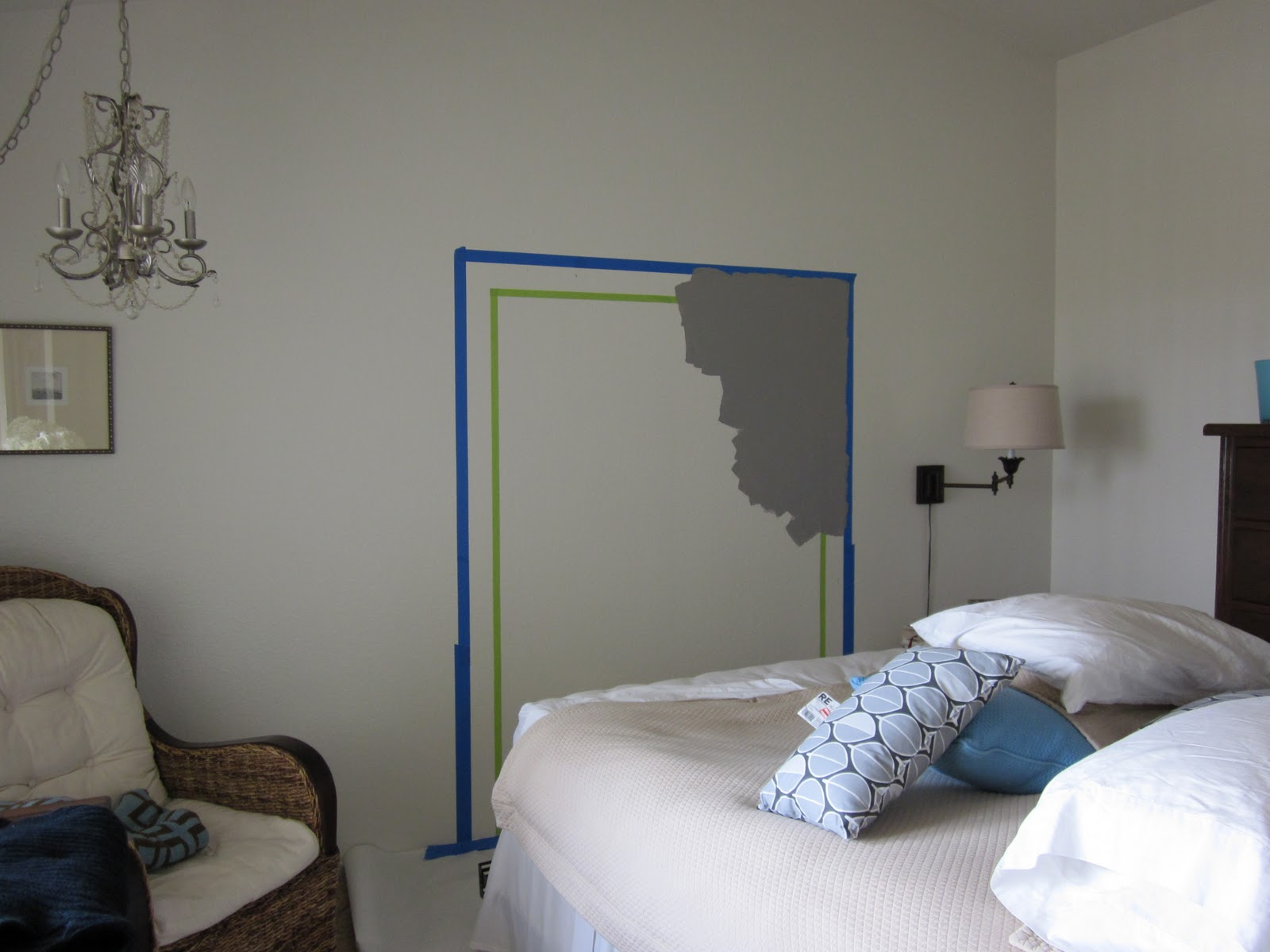 do something creative daily the wall painted headboard