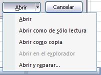Abrir un libro en Excel
