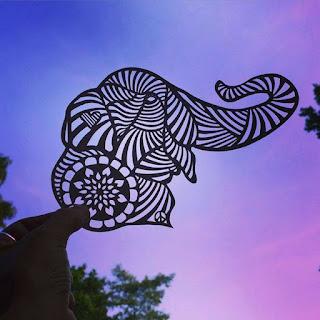 Paper Handcraft Elephant