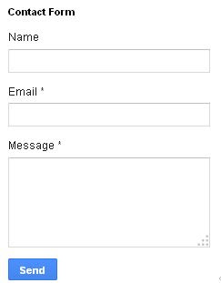 blogger contact form gadget