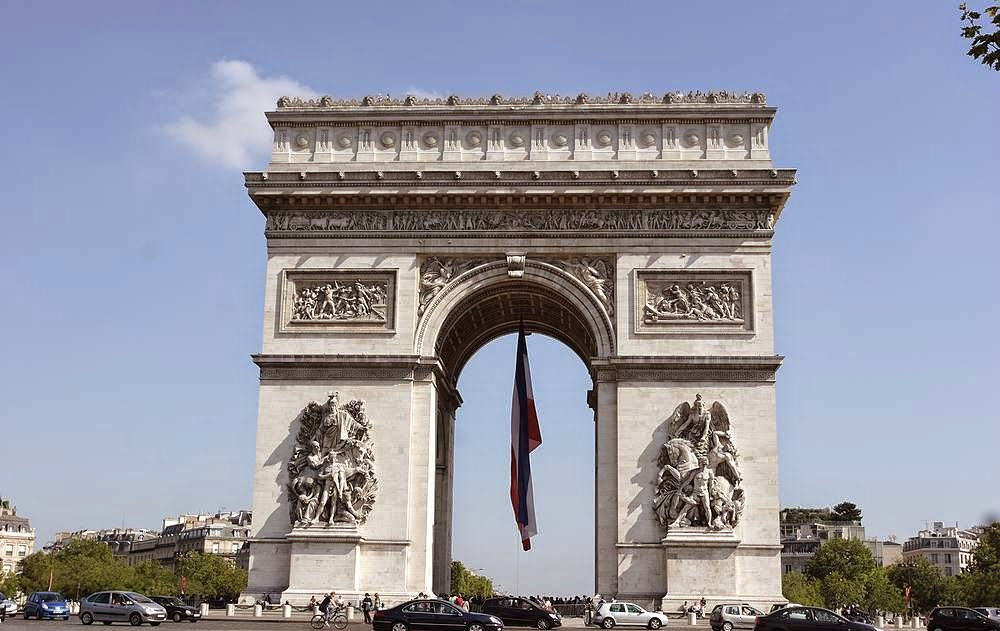 imagenes paris arco del triunfo
