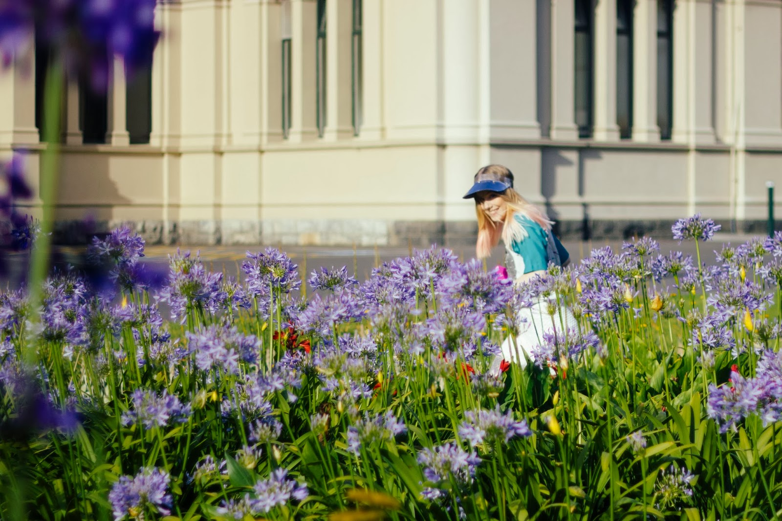 outside is colours, outsideiscolours, outside is colors, outsideiscolors,girl running in flowers, carlton gardens,