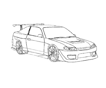 #6 Fast and Furious Coloring Page