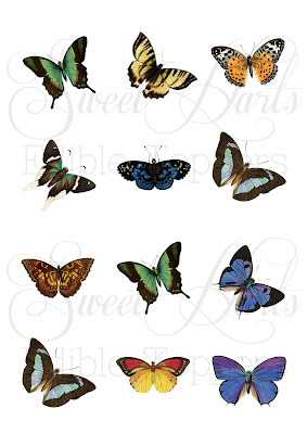 Butterfly cake edible print cake toppers