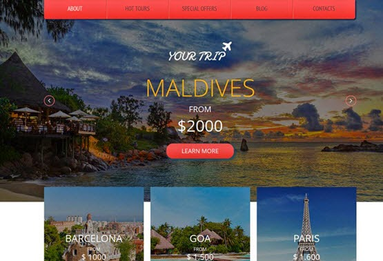 YourTrip web template