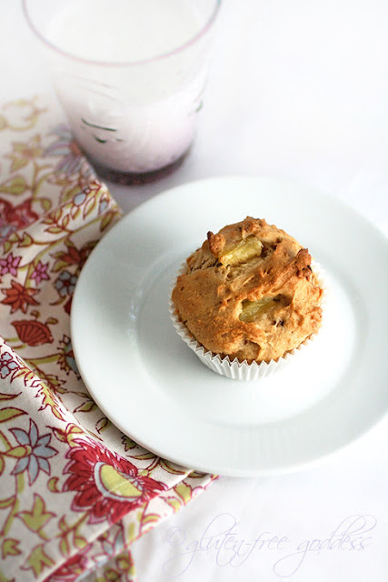 Vegan and gluten free pineapple toasted coconut muffins