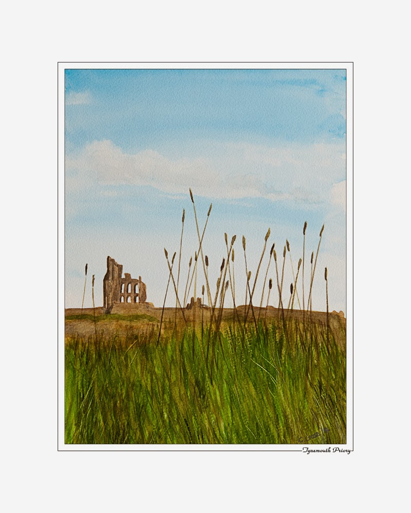 Tynemouth Priory painting