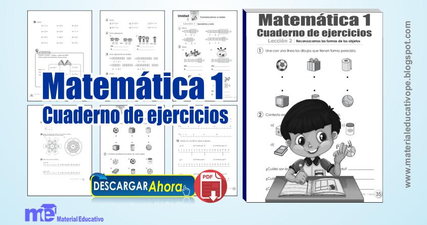 Matemática Cuaderno de ejercicios 1° grado primaria ~ MATERIAL EDUCATIVO