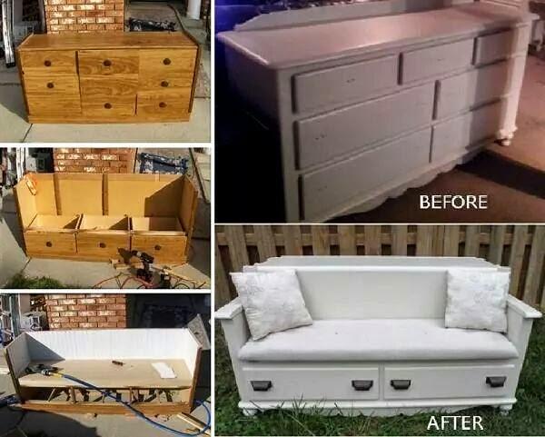 id es fait main comment recycler un vieux bahut en fauteuil design. Black Bedroom Furniture Sets. Home Design Ideas