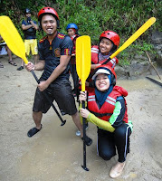 Water rafting at Slim River