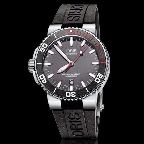 ORIS AQUIS RED LIMITED EDITION 01 733 7653 4183-SET RS