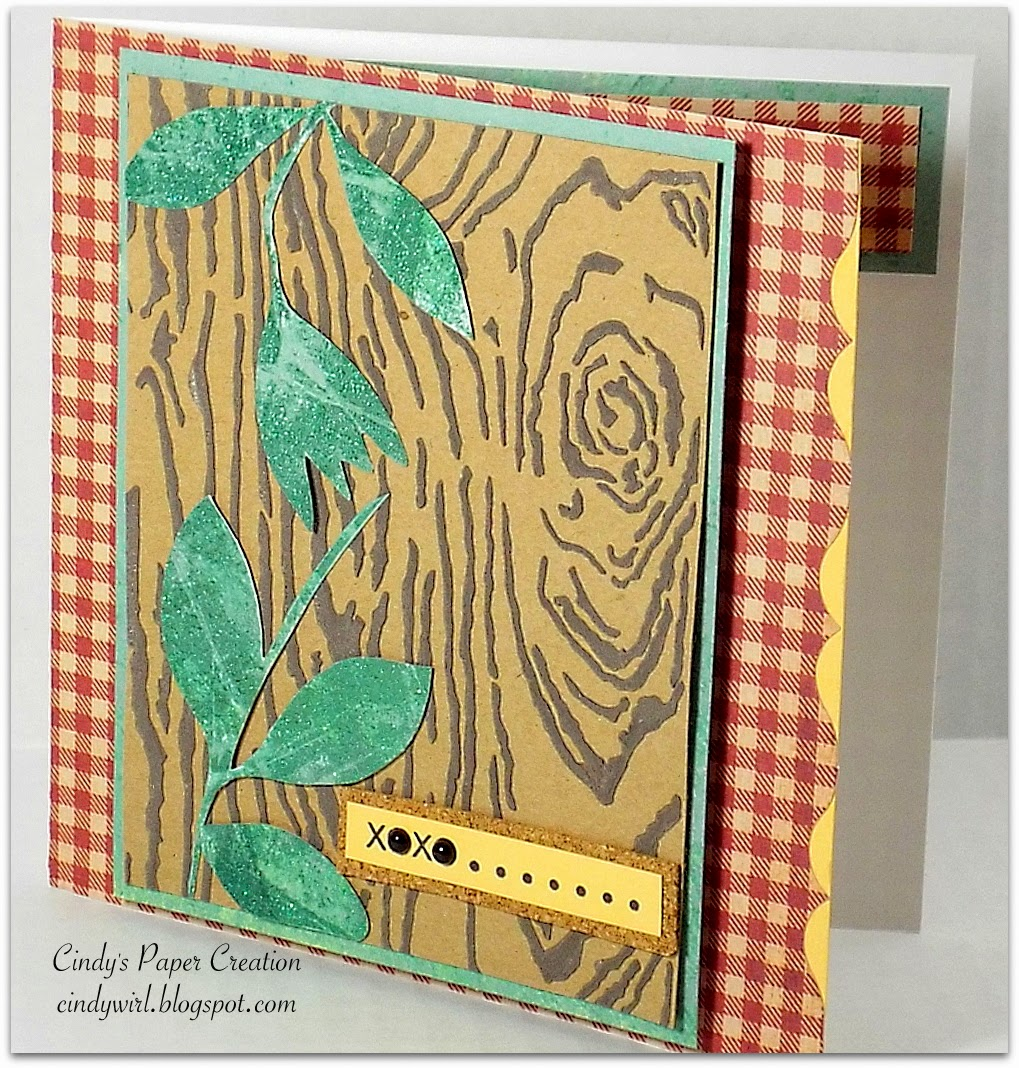 Faux tree bark, wood grain card