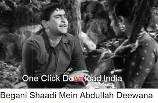 Begani Shadi Mein Abdullah Deewana Song Lyrics