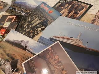 colecionando cartões postais