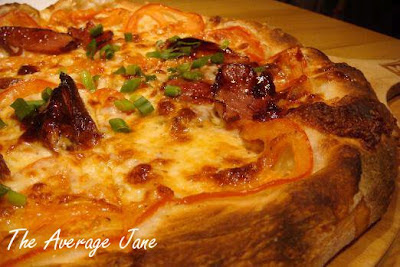 Smoked duck breast with hoisin sauce pizza