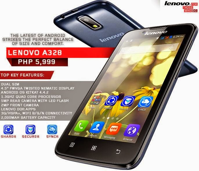 Lenovo A328 Dual with Top Key features