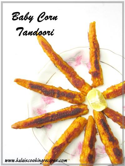 Baby Corn Tandoori