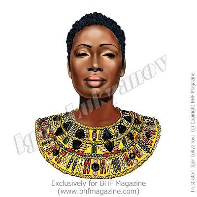 visage femme africaine