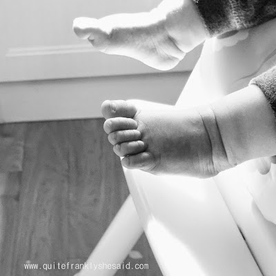 silent sunday baby feet