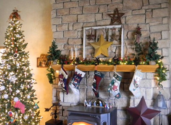 My Modern Country: Rustic Christmas Mantel