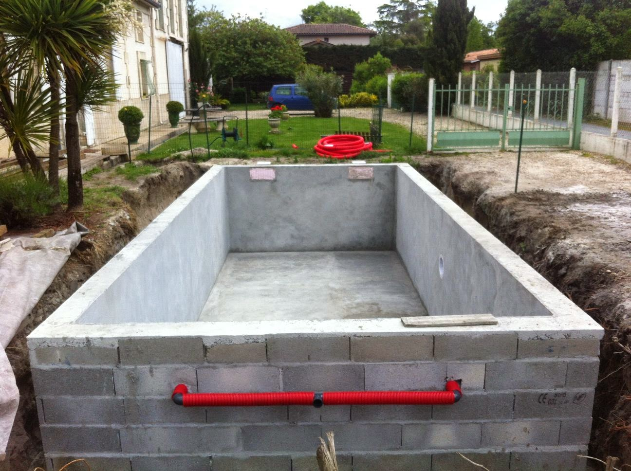 Projet tapes de construction d 39 une piscine en for Construction piscine